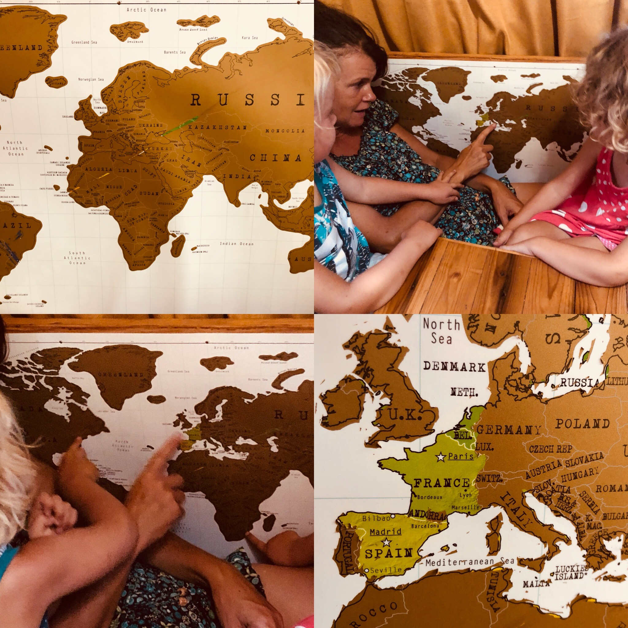 Expedition Family Happiness - Scratching our world map!